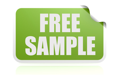 Free sample green sticker