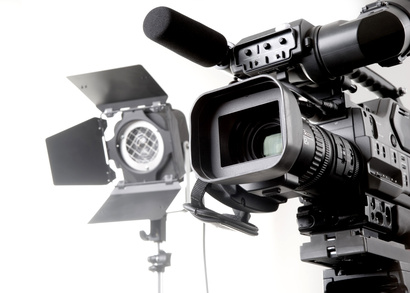 dv camcorder and light