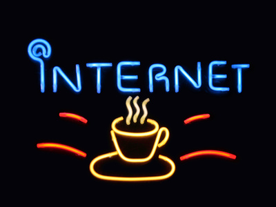 neon sign internet cafe