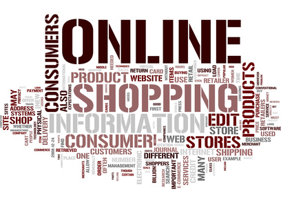 Shopping online tag cloud