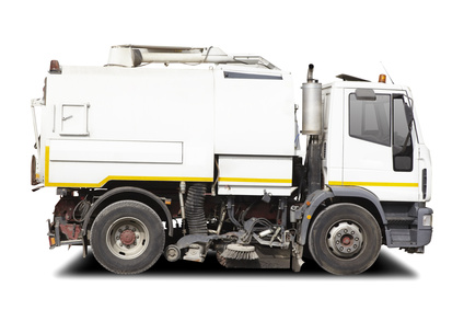 street sweeper with clipping path